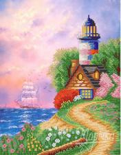 Райская гавань. Размер - 26 х 33 см.