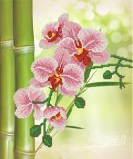 Тропические цветы. Размер - 26 х 31 см.