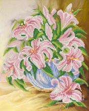 Розовые лилии. Размер - 26 х 33 см.