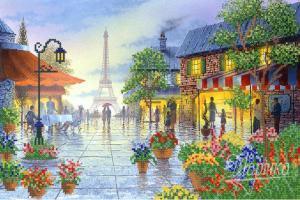 Париж в цветах. Размер - 37 х 25 см.