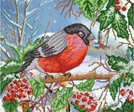 Зимняя птица. Размер - 31 х 26 см.
