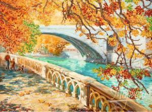 Осенняя прогулка. Размер - 35 х 26 см.