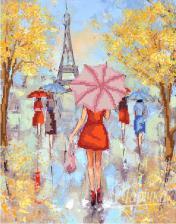 Парижские модницы. Размер - 26 х 33 см.