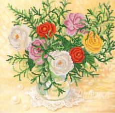 Розы. Размер - 27 х 26 см.