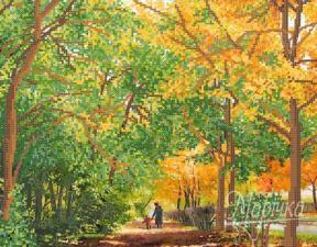 Золотой листопад. Размер - 34 х 26 см.