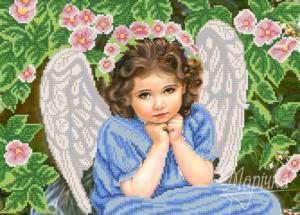 Задумчивый ангел. Размер - 36 х 26 см.
