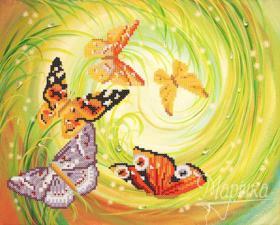 Хоровод бабочек. Размер - 32 х 26 см.