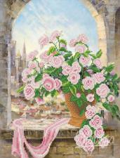 Розовая вуаль. Размер - 26 х 34 см.