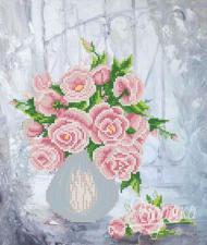Розовая фантазия. Размер - 26 х 31 см.