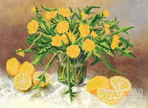 Жёлтый натюрморт. Размер - 35 х 26 см.