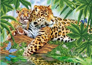 Леопарды. Размер - 37 х 26 см.