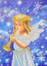 Снежный ангел. Размер - 26 х 36 см.