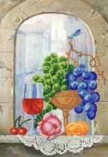 Игристое вино. Размер - 25 х 37 см.