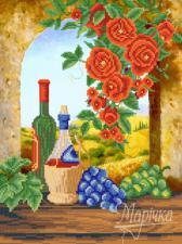 Вино из Тосканы. Размер - 26 х 35 см.