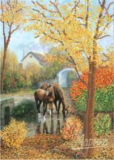 Осенняя гармония. Размер - 26 х 37 см.