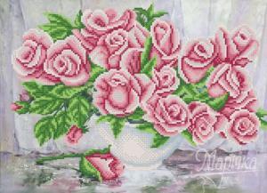Чайные розы. Размер - 36 х 26 см.