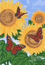 Яркие бабочки. Размер - 26 х 37 см.