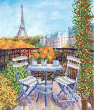Завтрак в Париже. Размер - 26 х 31 см.