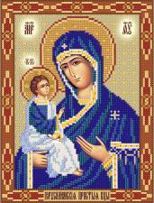 Иерусалимская икона Божьей Матери. Размер - 18 х 24 см.