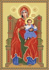 Божия Матерь на престоле. Размер - 18 х 26 см.
