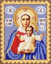 Леушинская икона Божьей Матери. Размер - 18 х 23 см.