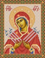 Богородица Семистрельная. Размер - 18 х 24 см.
