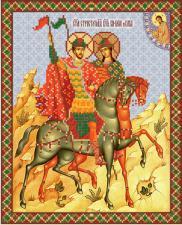 Св. блгв. князья-страстотерпцы Борис и Глеб. Размер - 26 х 32 см.