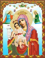 Богородица Милующая (Достойно есть). Размер - 13 х 16 см.