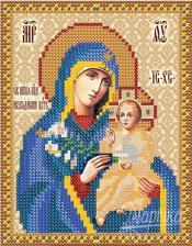 Богородица Неувядаемый цвет. Размер - 13 х 16 см.