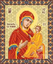 Тихвинская икона Божией Матери. Размер - 18 х 22 см.