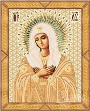 Богородица Умиление. Размер - 18 х 23 см.