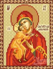 Богородица Феодоровская. Размер - 13 х 17 см.