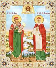 Св. Пётр и Феврония. Размер - 26 х 32 см.