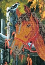 Лошадь. Размер - 37 х 49 см.