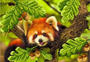Красная панда. Размер - 34 х 28 см.