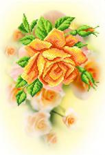 Чайная роза. Размер - 37 х 49 см.
