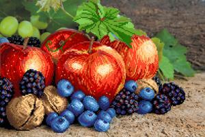 Райские плоды. Размер - 49 х 37 см.