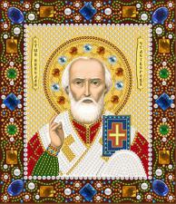 Св. Николай Чудотворец. Размер - 13 х 15 см.