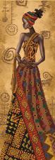 Загадочная африканка. Размер - 18 х 51 см.