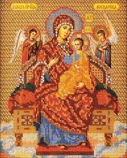 Богородица Всецарица. Размер - 21 х 26 см.