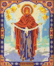 Богородица Покрова. Размер - 20 х 25 см.