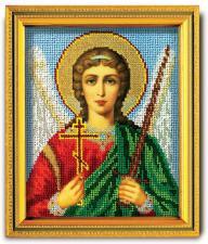 """Икона из ювелирного бисера """"Ангел-Хранитель"""". Размер - 12 х 14,5 см."""