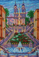 Испанская лестница.Рим. Размер - 26 х 38 см.