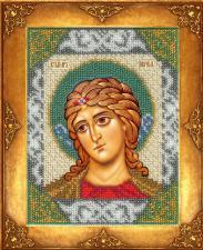 Святой Гавриил. Размер - 12,5 х 16,3 см.