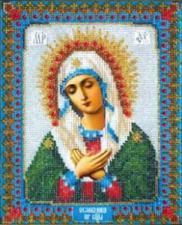 Богородица Умиление. Размер - 17,8 х 22,1 см .