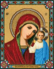 Икона Божьей Матери Казанская. Размер - 24 х 30,8 см.
