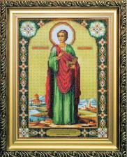 Икона великомученика и целителя Пантелеймона. Размер - 27,5 х 36,5 см.