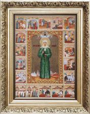 Икона Святой Блаженной Матроны Московской. Размер - 25 х 34,5 см.