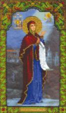 Икона Божье Матери Боголюбивая. Размер - 17,1 х 28,8 см.