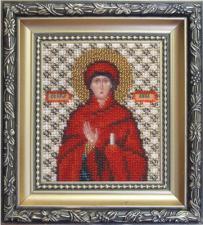Икона пророчица Анна. Размер - 9 х 11 см.